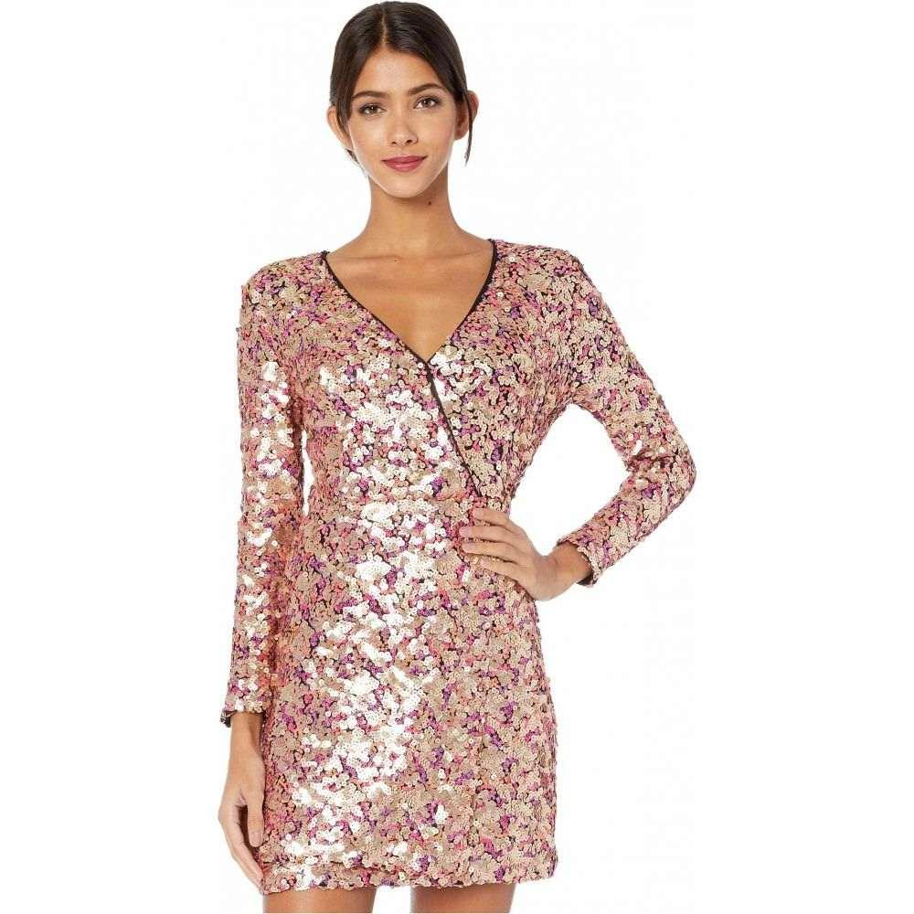 モニーク ルイリエ ML Monique Lhuillier レディース ワンピース ワンピース・ドレス【Multicolored Sequined Long Sleeve Dress】