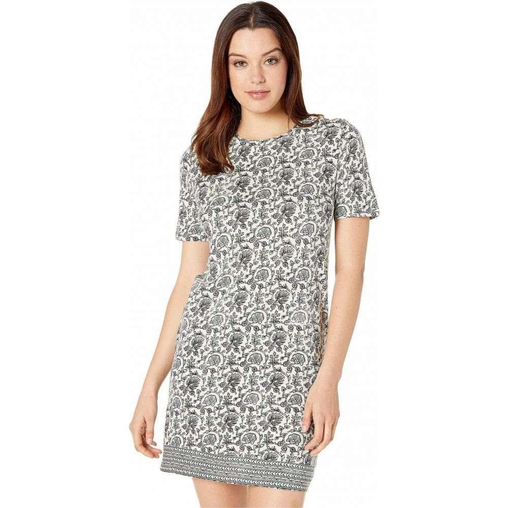 ラッキーブランド Lucky Brand レディース ワンピース Tシャツワンピース ワンピース・ドレス【Woodblock Print T-Shirt Dress】Green Multi
