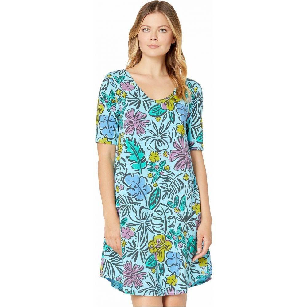 フレッシュプロデュース Fresh Produce レディース ワンピース ワンピース・ドレス【Sketched Flora Mika Dress】Bluefin Turquoise