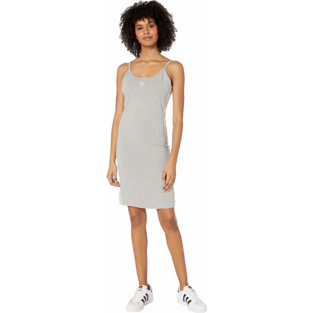 アディダス adidas Originals レディース ワンピース タンクドレス ワンピース・ドレス【adiColor Tank Dress】Medium Grey Heather/White