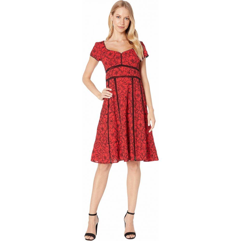 ナネット レポー Nanette Lepore レディース ワンピース ワンピース・ドレス【Embroidered Dress】Red Multi