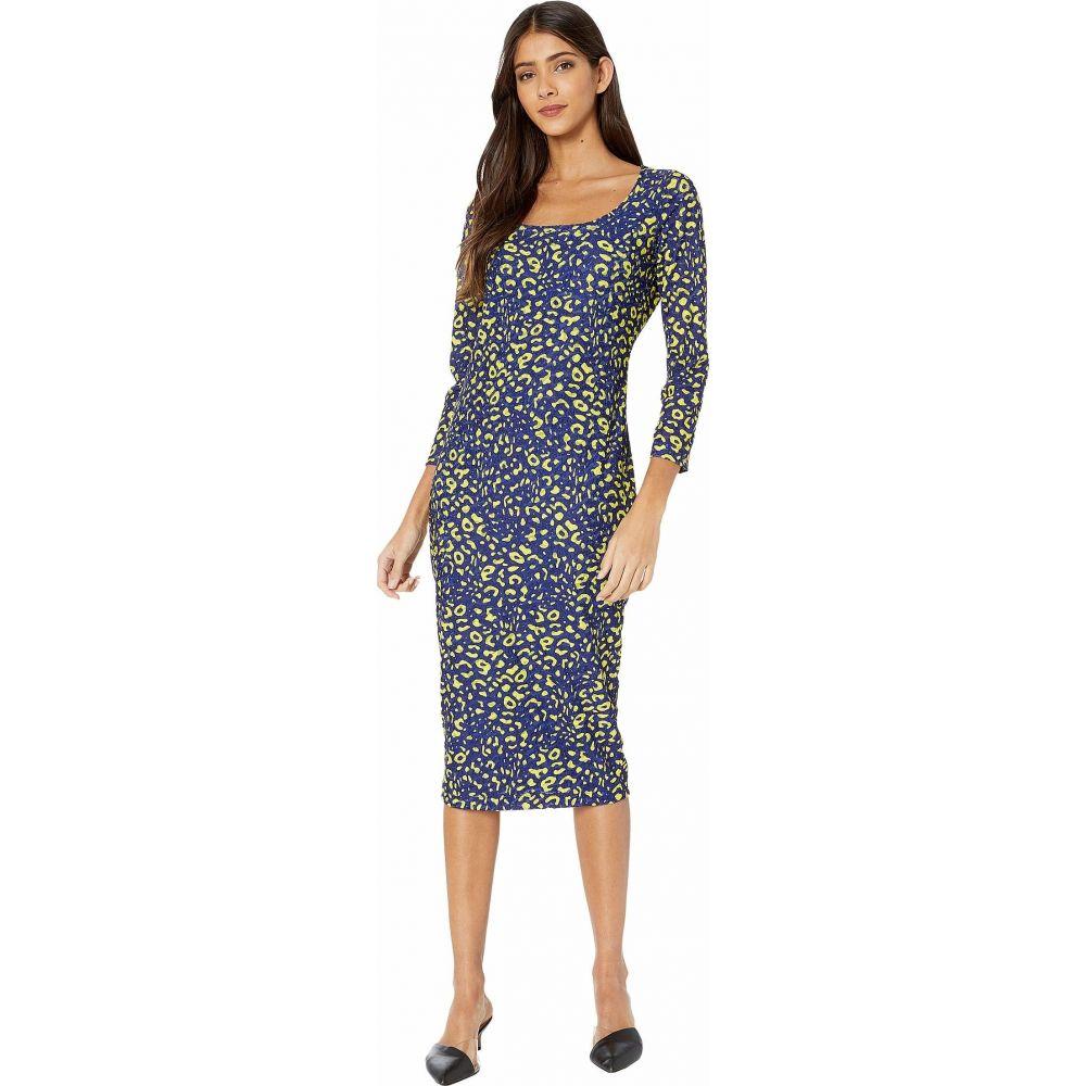 ファジー FUZZI レディース ワンピース ワンピース・ドレス【Long Sleeve Knee Length Poppy Print Dress】Blueberry