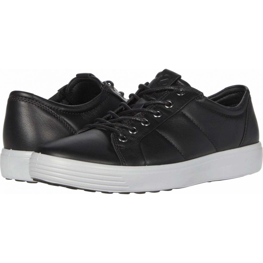 エコー ECCO メンズ スニーカー シューズ・靴【Soft 7 Premium Sneaker】Black/Concrete