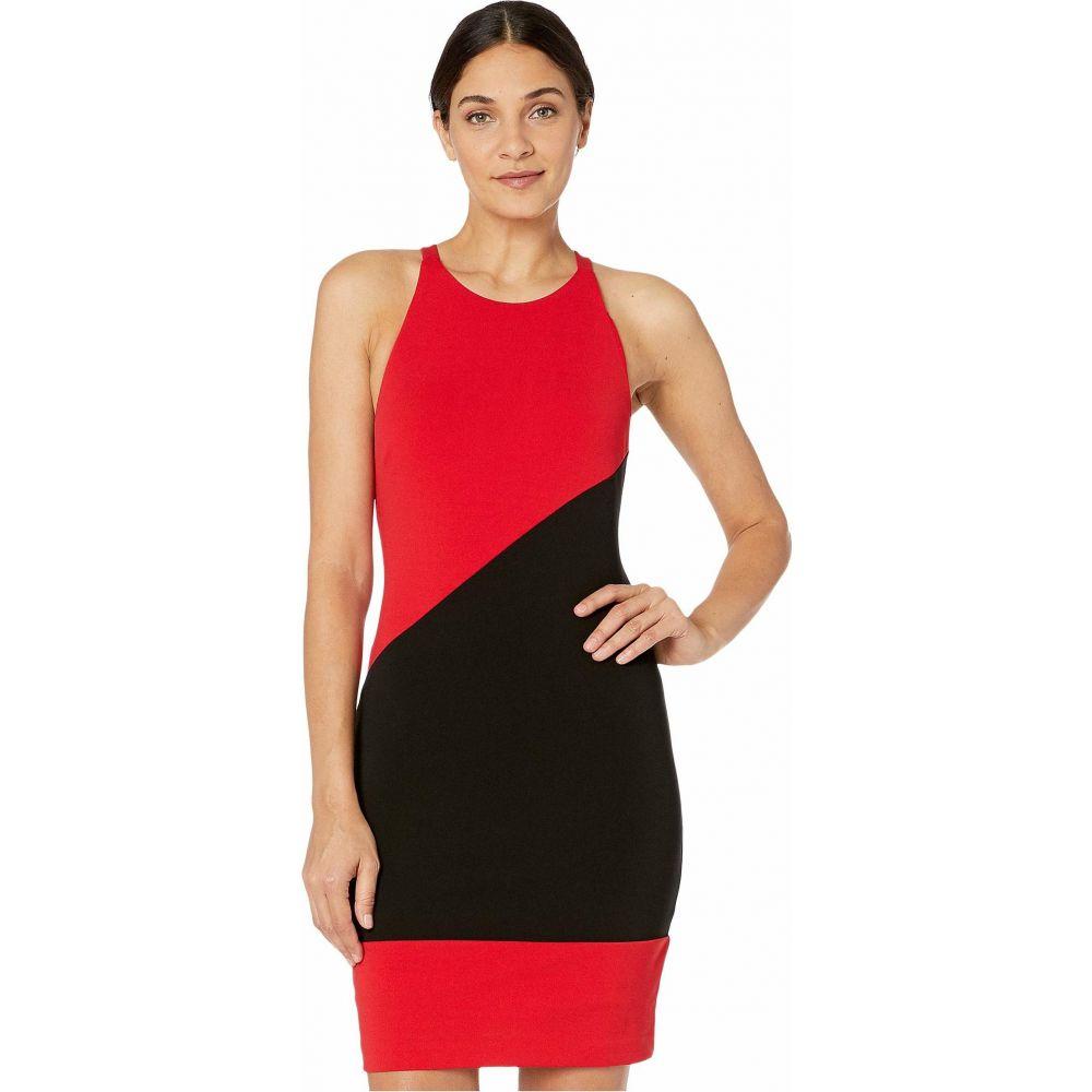 ニコルミラー Nicole Miller レディース ワンピース ミニ丈 ワンピース・ドレス【Heavy Jersey X-Back Mini Dress】Cherry Red
