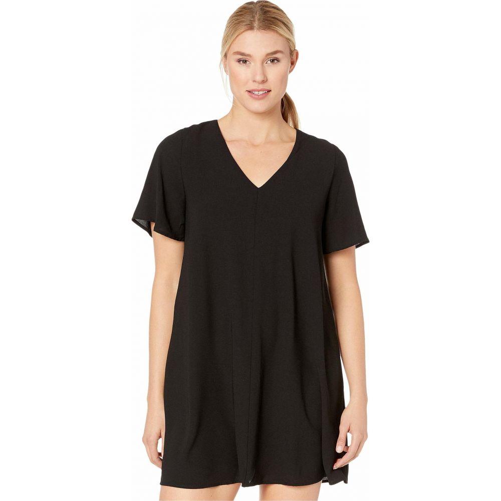 アメリカンローズ American Rose レディース ワンピース Vネック ワンピース・ドレス【Scout Short Sleeve V-Neck Dress】Black