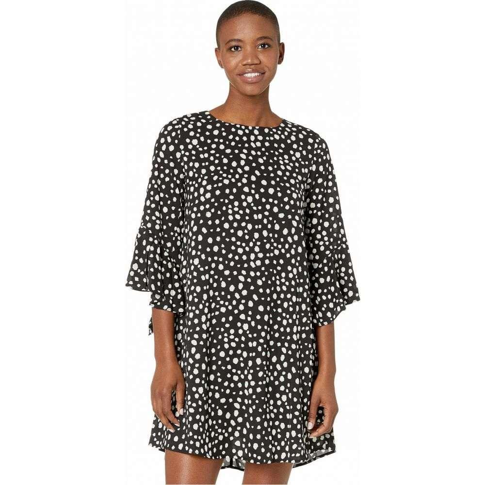 アメリカンローズ American Rose レディース ワンピース ワンピース・ドレス【Ivy Polka Dot Dress with Flared Sleeves】Black/White