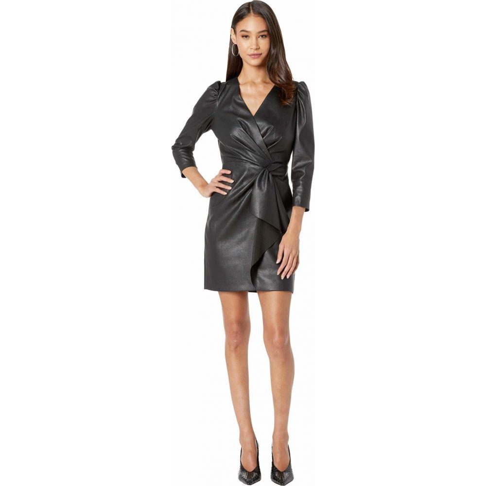 レベッカ テイラー Rebecca Taylor レディース ワンピース ワンピース・ドレス【Long Sleeve Vegan Leather Dress】Black