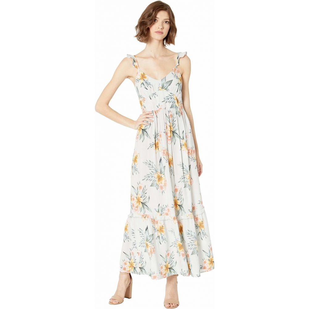 ロキシー Roxy レディース ワンピース マキシ丈 ワンピース・ドレス【On A Wim Maxi Dress】Gray Violet Seaside Floral