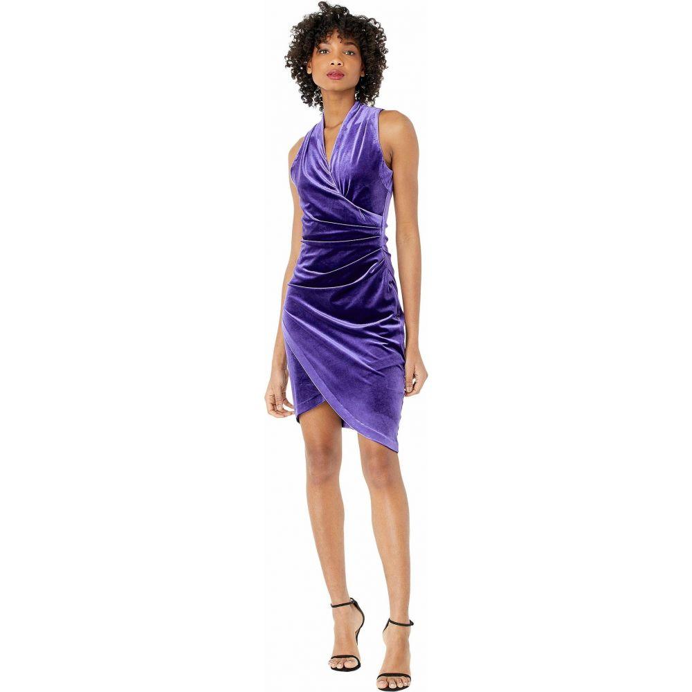 ニコルミラー Nicole Miller レディース ワンピース ワンピース・ドレス【Stretch Velvet Stefanie Dress】Purple