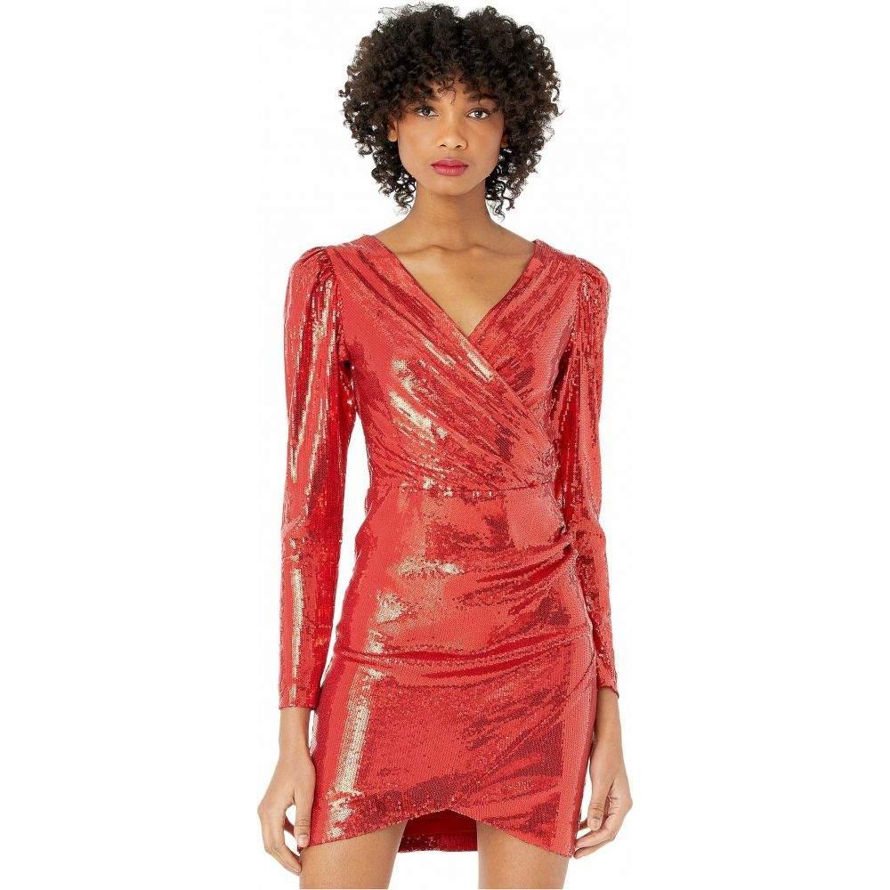 ニコルミラー Nicole Miller レディース ワンピース ワンピース・ドレス【Long Sleeve Surplice Dress】Red