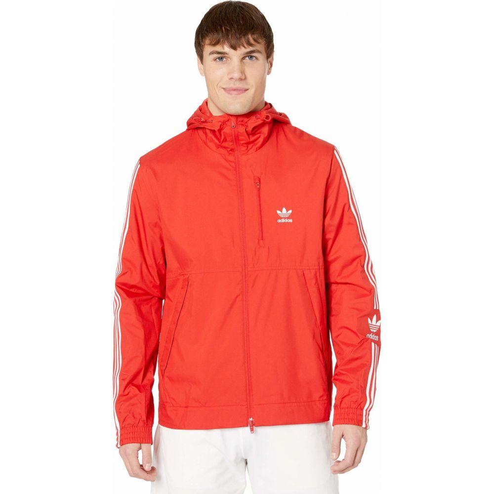 アディダス adidas Originals メンズ ジャケット ウィンドブレーカー アウター【Lock-Up Logo Windbreaker】Lush Red