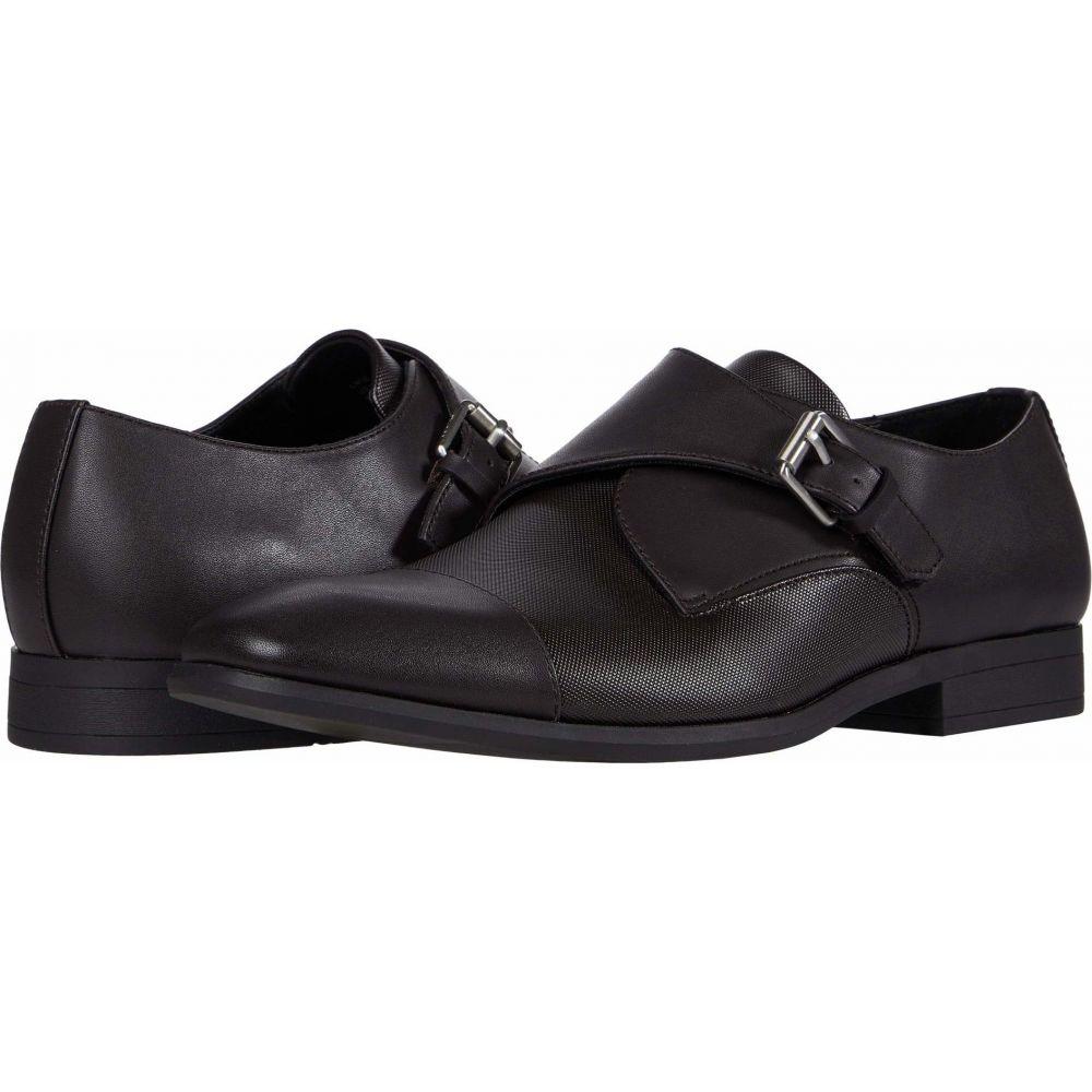 カルバンクライン Calvin Klein メンズ 革靴・ビジネスシューズ シューズ・靴【Lane】Dark Brown City Emboss/Burnished Nappa Smooth