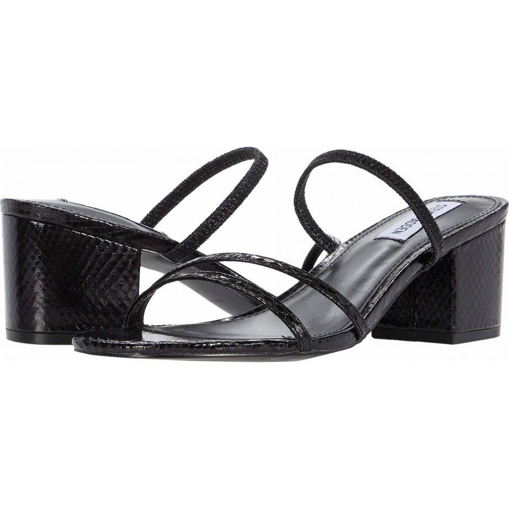 スティーブ マデン Steve Madden レディース サンダル・ミュール シューズ・靴【Impression Heeled Sandal】Black Snake