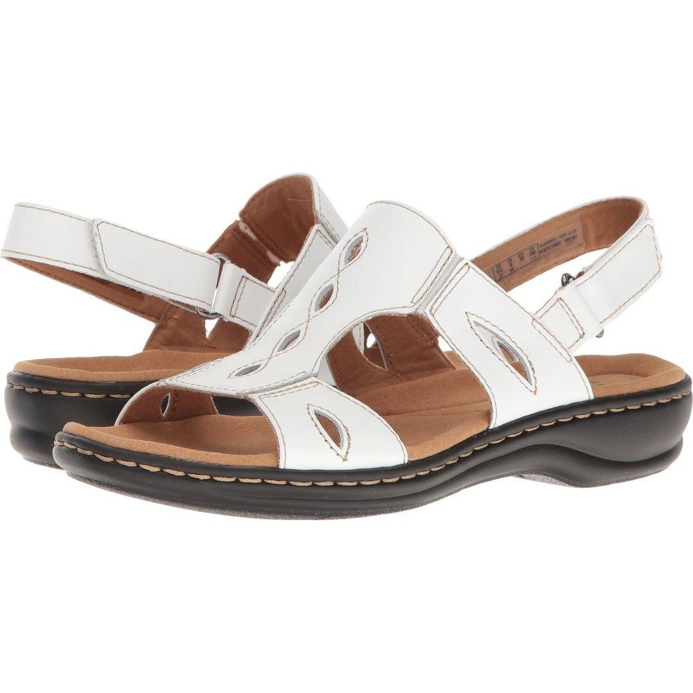 クラークス Clarks レディース サンダル・ミュール シューズ・靴【Leisa Lakelyn】White Leather