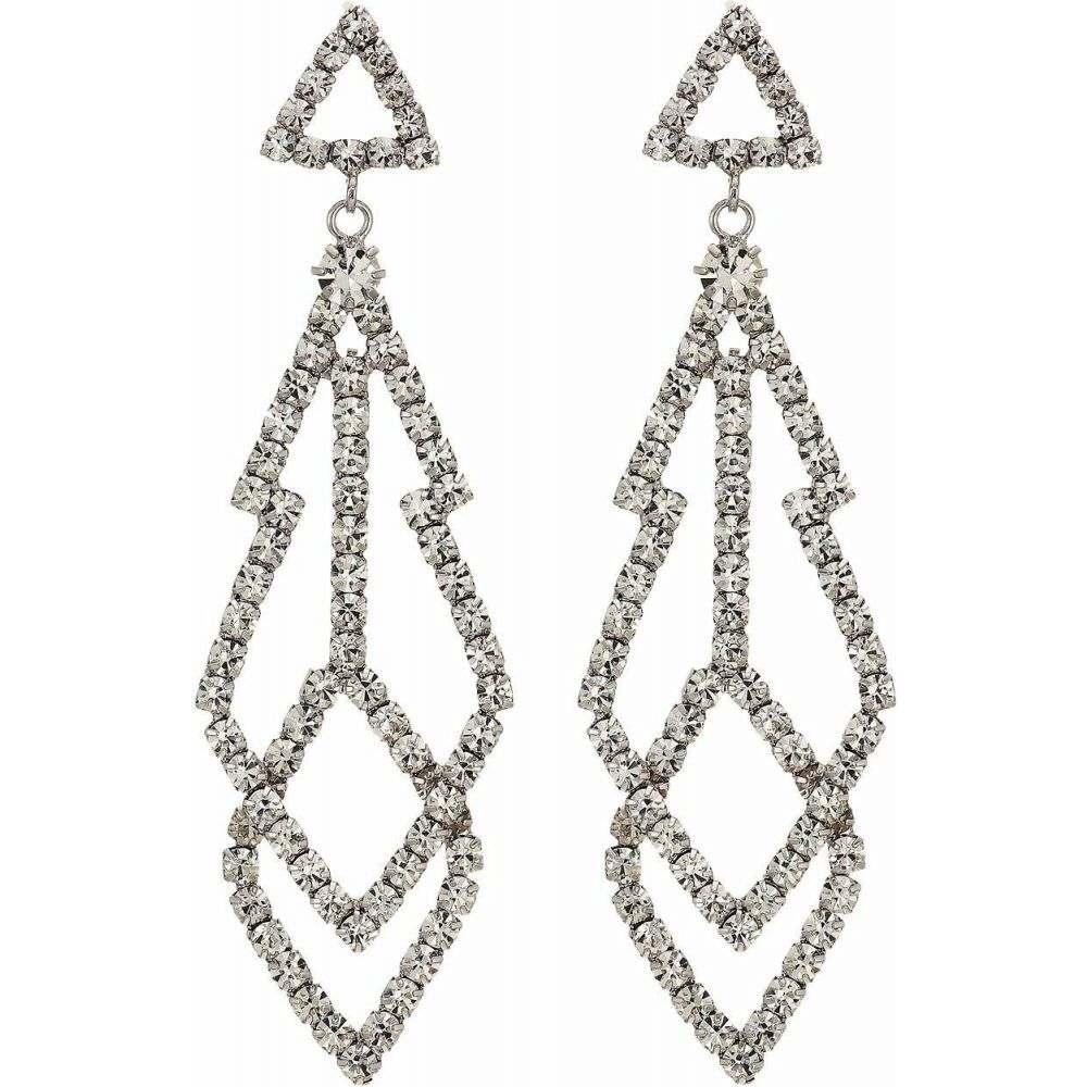 ケネスジェイレーン Kenneth Jay Lane レディース イヤリング・ピアス ジュエリー・アクセサリー【3 Silver with Diamond Top with Fancy Shape Crystal Drop Pierced Earrings】