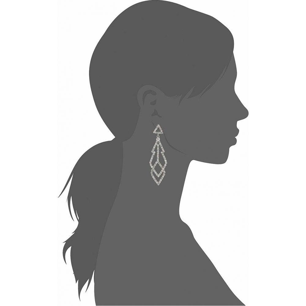 ケネスジェイレーン Kenneth Jay Lane レディース イヤリング・ピアス ジュエリー・アクセサリー 3 Silver with Diamond Top with Fancy Shape Crystal Drop Pierced EarringsmNw80n