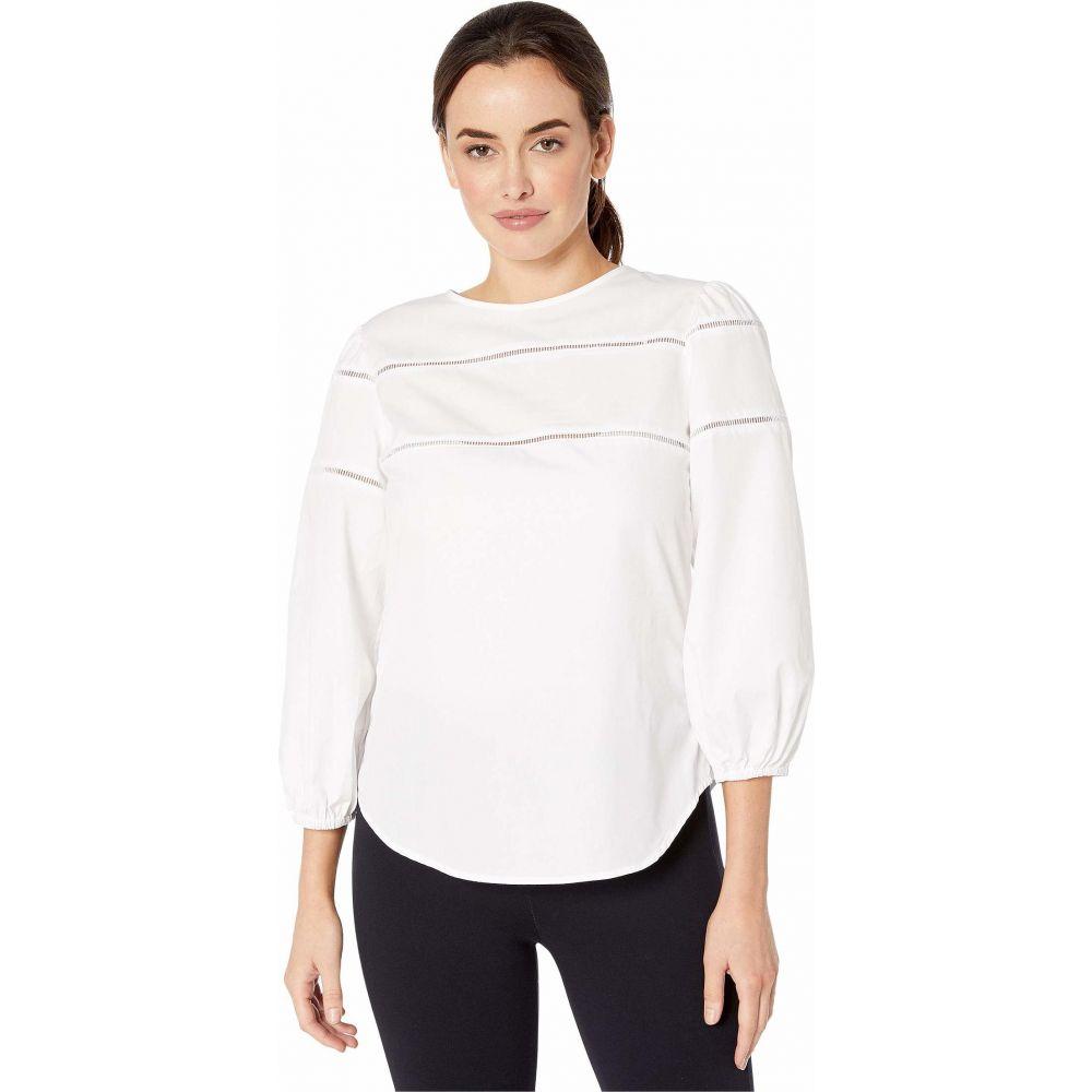 ラルフ ローレン LAUREN Ralph Lauren レディース ブラウス・シャツ トップス【Ladder-Trim Cotton Shirt】White