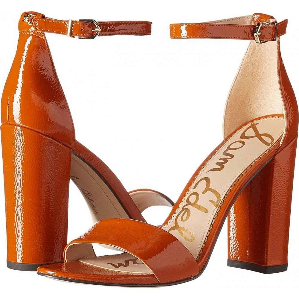 サム エデルマン Sam Edelman レディース サンダル・ミュール アンクルストラップ シューズ・靴【Yaro Ankle Strap Sandal Heel】Tawny Brown Goat Crinkle Patent Leather