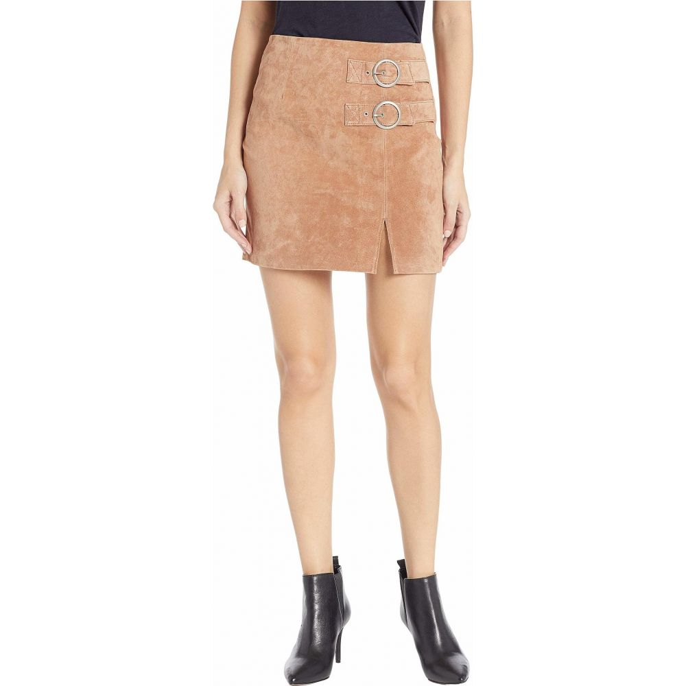 ブランクニューヨーク Blank NYC レディース スカート 【Suede Skirt with Double Buckle in Hazelnut】Hazelnut
