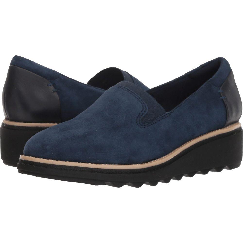 クラークス Clarks レディース ローファー・オックスフォード シューズ・靴【Sharon Dolly】Navy Suede