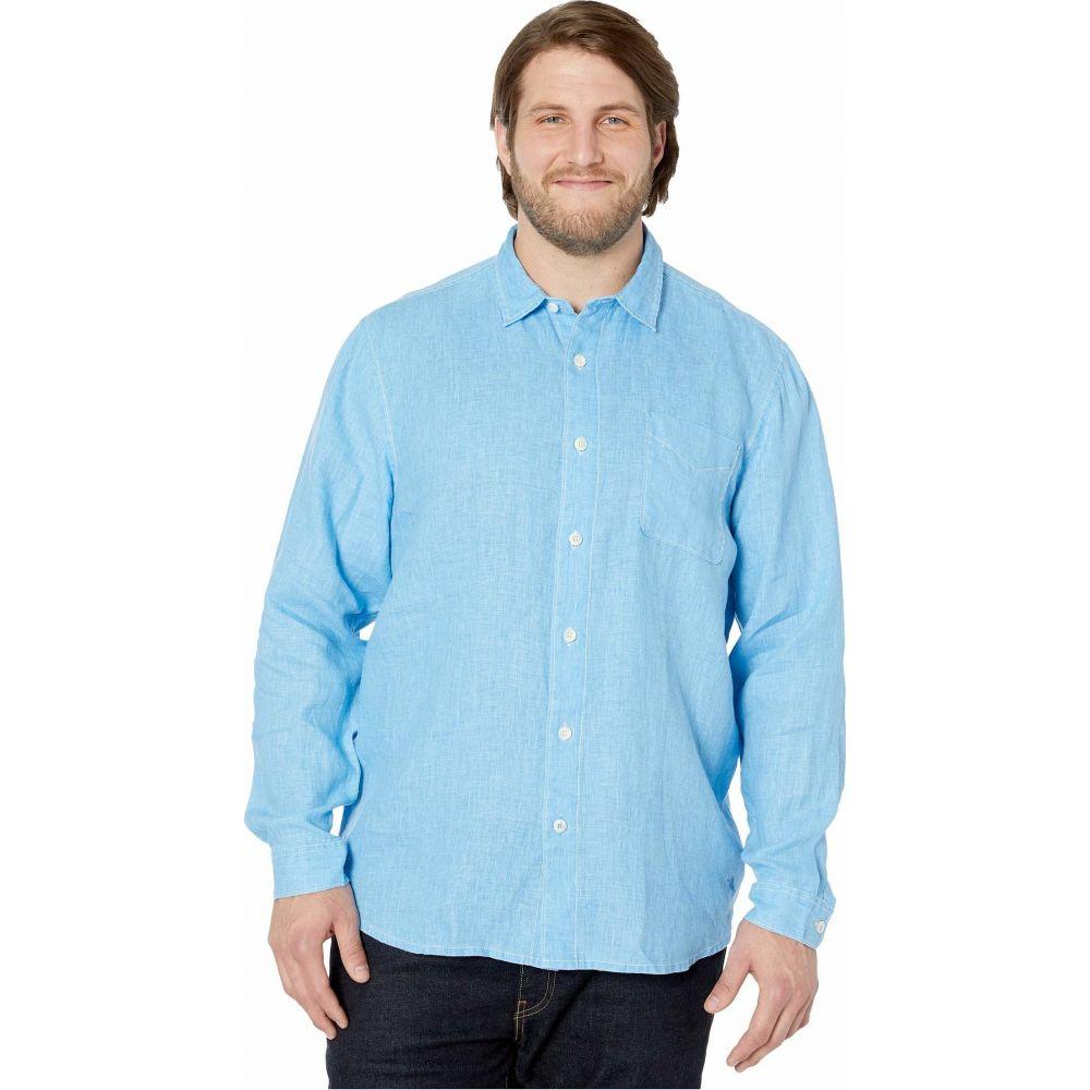 トミー バハマ Tommy Bahama Big & Tall メンズ シャツ トップス【Sea Glass Breezer Long Sleeve Shirt】Blue Yonder