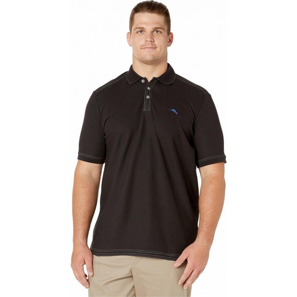 トミー バハマ Tommy Bahama Big & Tall メンズ ポロシャツ 大きいサイズ トップス【Big & Tall Emfielder 2.0 Polo】Black