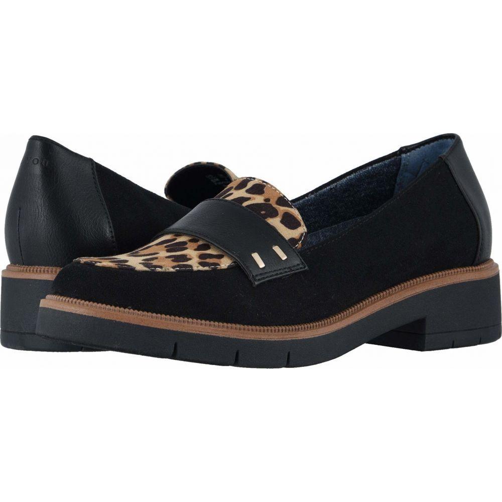 ドクター ショール Dr. Scholl's レディース ローファー・オックスフォード シューズ・靴【Grow Up】Black/Leopard Microfiber