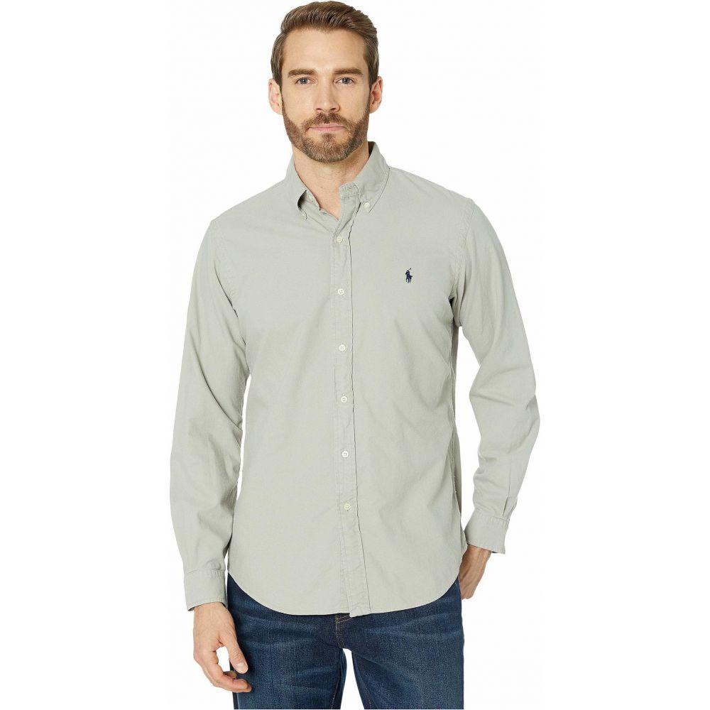 ラルフ ローレン Polo Ralph Lauren メンズ シャツ トップス【Classic Fit Long Sleeve Oxford Shirt】Grey Fog