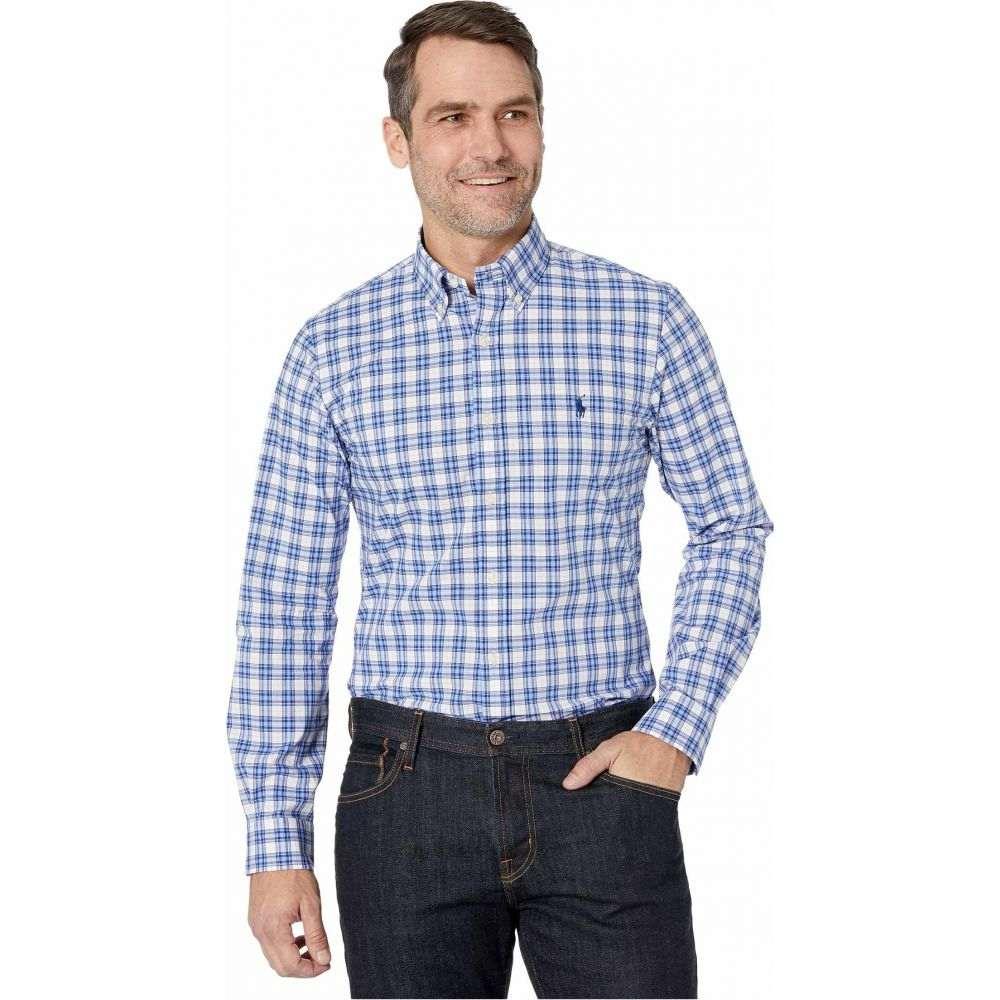 ラルフ ローレン Polo Ralph Lauren メンズ シャツ トップス【Slim Fit Poplin Shirt】White/Navy Multi