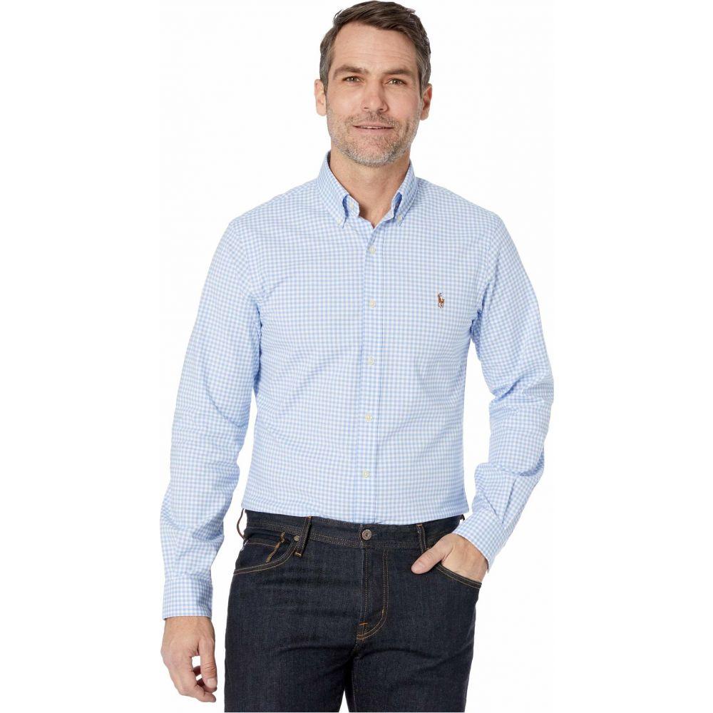 ラルフ ローレン Polo Ralph Lauren メンズ シャツ トップス【Slim Fit Stretch Oxford Shirt】Light Blue/White