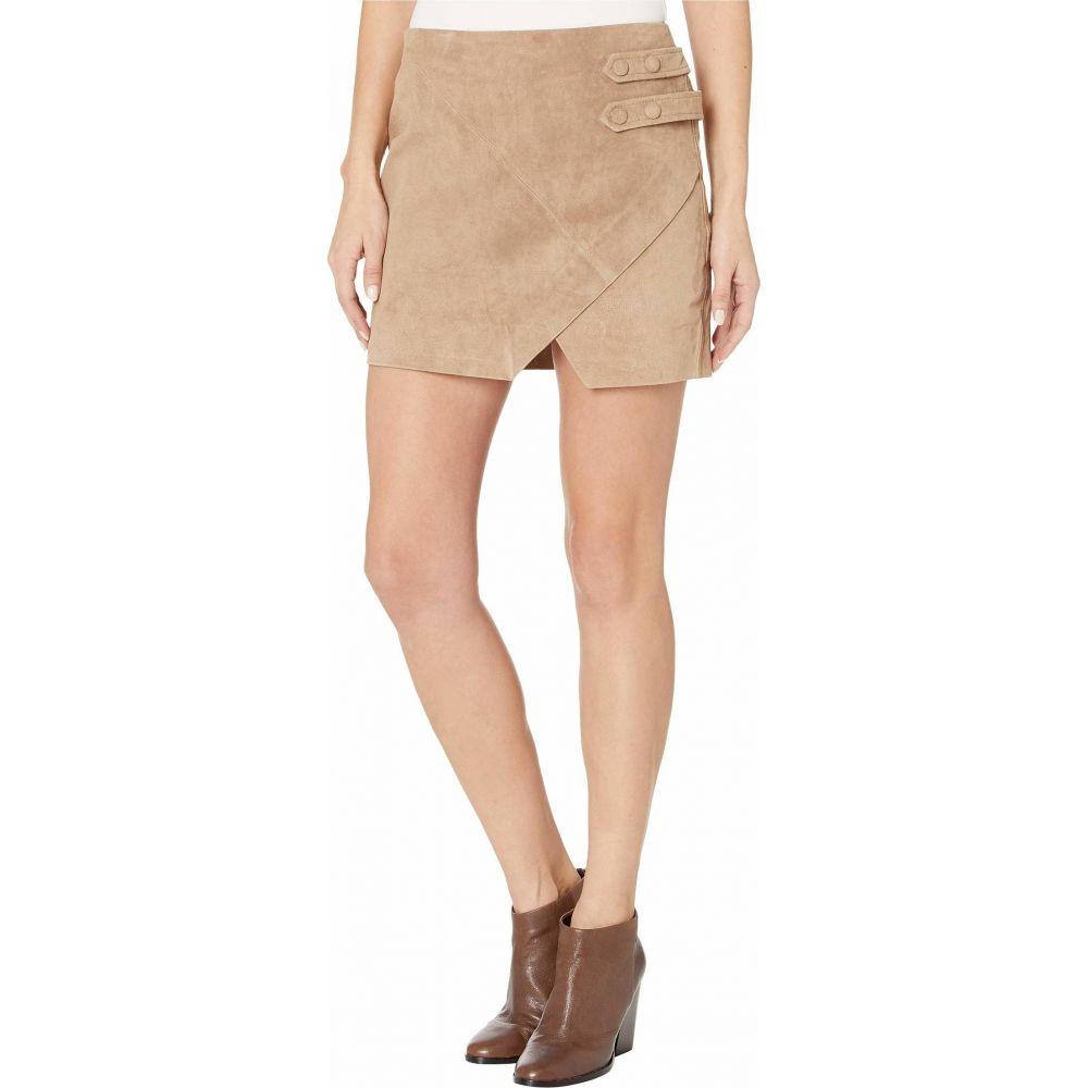 ブランクニューヨーク Blank NYC レディース ひざ丈スカート スカート【Real Suede A-Line Skirt with Snap Tab Detail in Macchiato】Macchiato