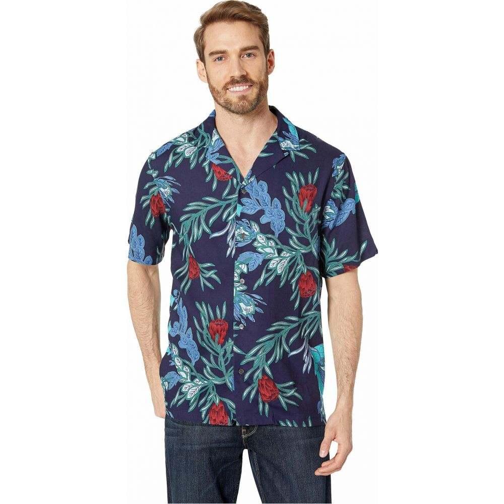 レインスプーナー Reyn Spooner メンズ シャツ トップス【Pink Mint Rayon Camp Shirt】Peacoat