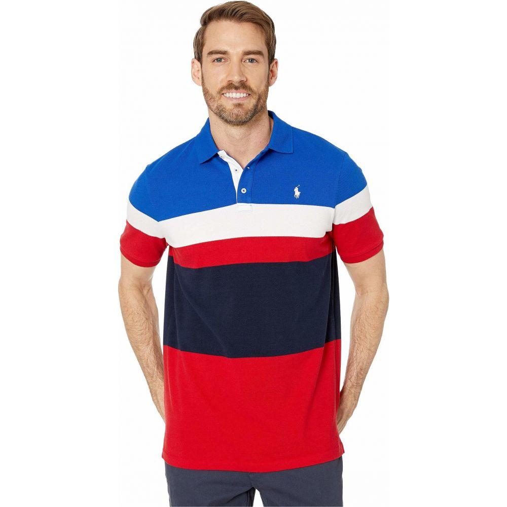 ラルフ ローレン Polo Ralph Lauren メンズ ポロシャツ トップス【Classic Fit Color Block Mesh Polo】RL Red Multi