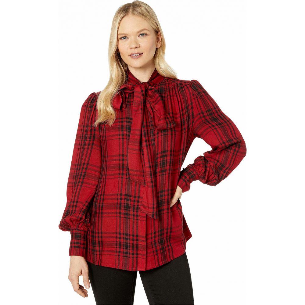 ラルフ ローレン LAUREN Ralph Lauren レディース ブラウス・シャツ トップス【Long Sleeve Shirt】Lipstick Red/Polo Black