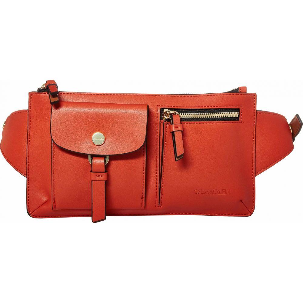 カルバンクライン Calvin Klein レディース ボディバッグ・ウエストポーチ バッグ【Rossa Smooth PU Belt Bag】Burnt Orange Combo