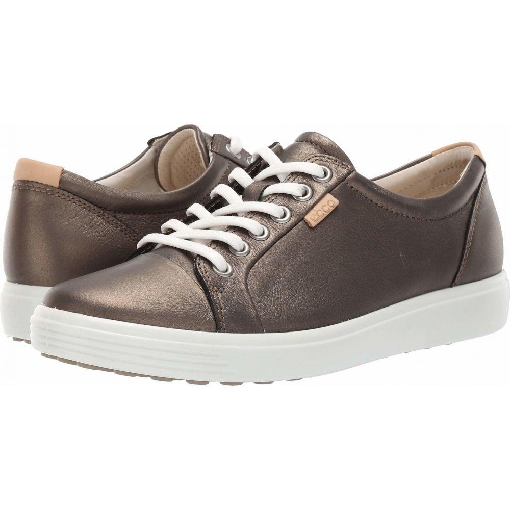 エコー ECCO レディース スニーカー シューズ・靴【Soft 7 Sneaker】Black Stone Metallic Cow Leather