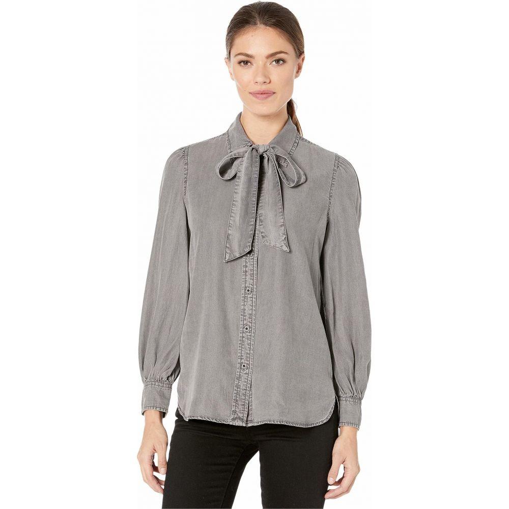 ラルフ ローレン LAUREN Ralph Lauren レディース ブラウス・シャツ トップス【Necktie Buttoned Blouse】Slate Grey Wash