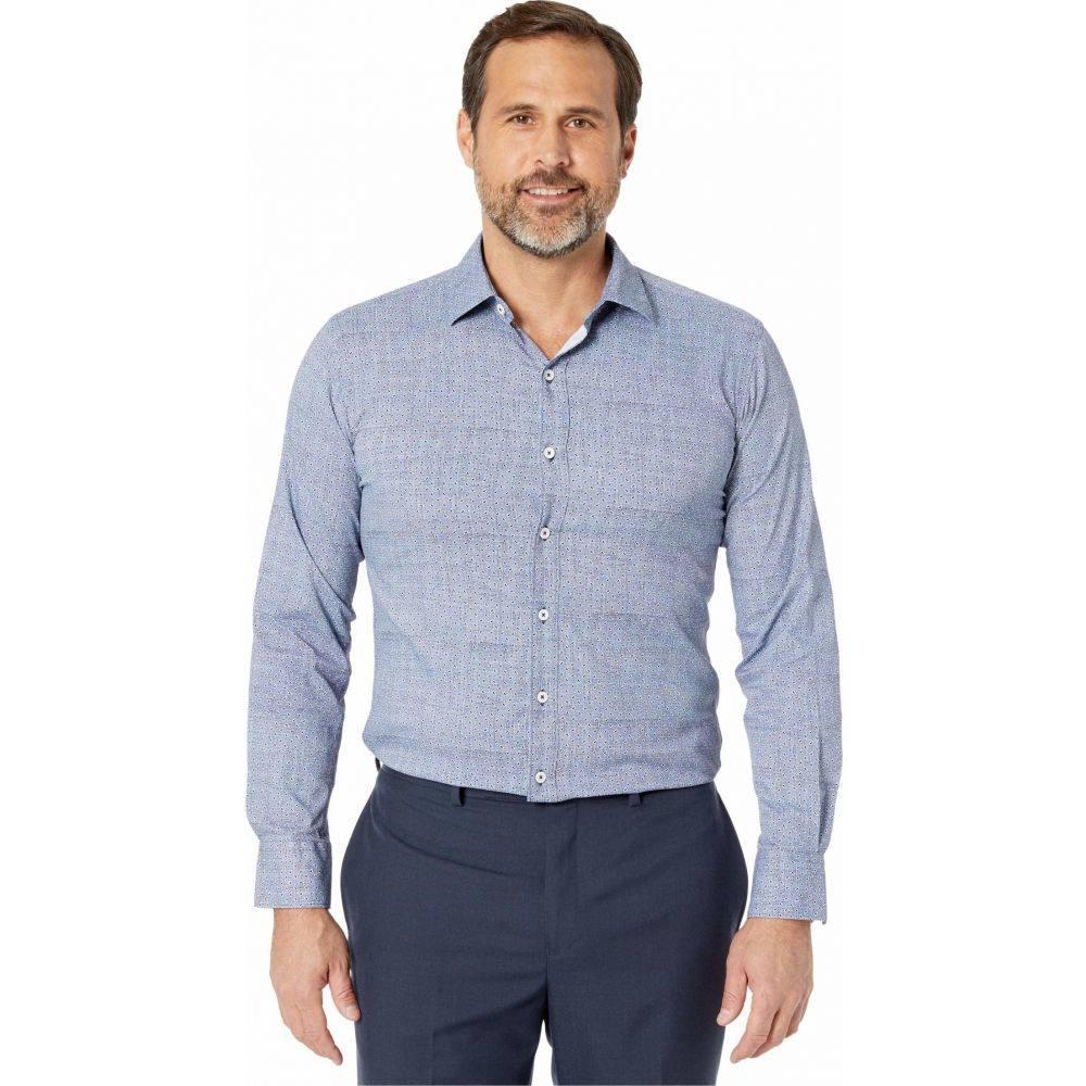 ブガッチ BUGATCHI メンズ シャツ トップス【Alphons Long Sleeve Performance Shaped Shirt】Navy
