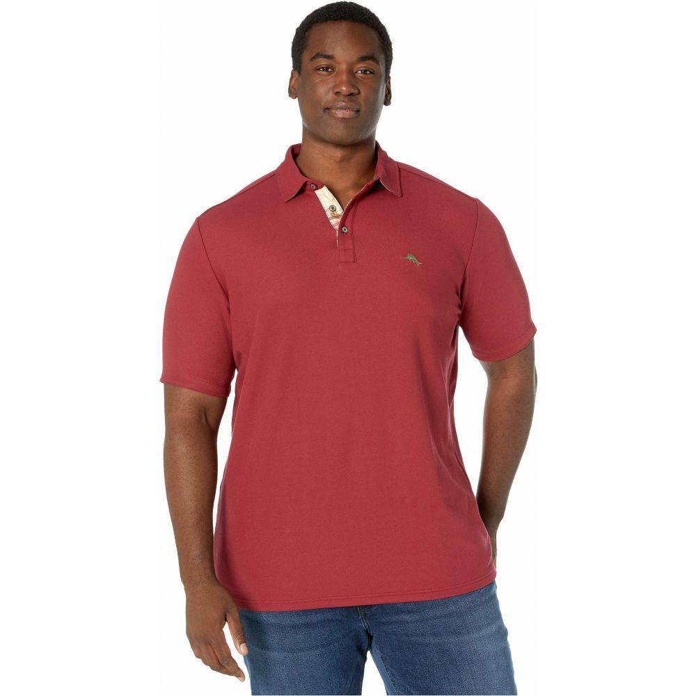 トミー バハマ Tommy Bahama Big & Tall メンズ ポロシャツ 大きいサイズ 半袖 トップス【Big & Tall Emfielder 5 O'clock Polo Short Sleeve】Cranapple