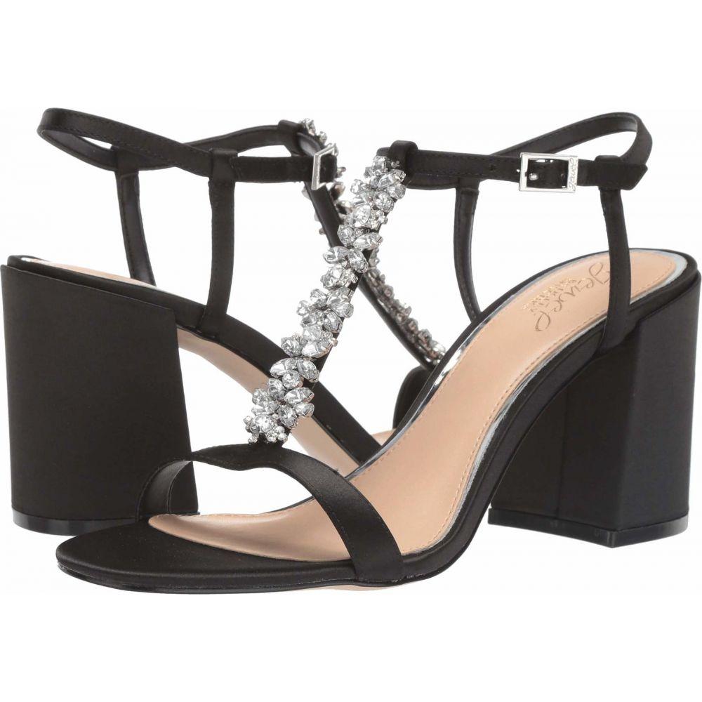 バッジェリー ミシュカ Jewel Badgley Mischka レディース サンダル・ミュール シューズ・靴【Raina】Black