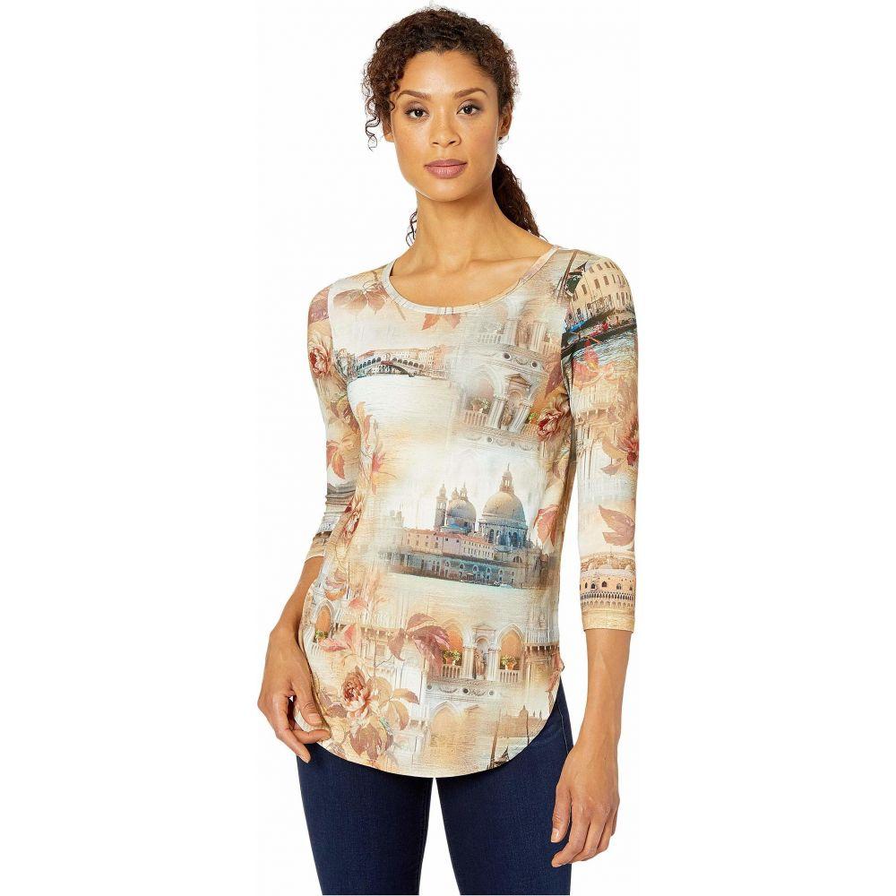 カレンケーン Karen Kane レディース Tシャツ トップス【Italian Montage Shirttail Tee】Print
