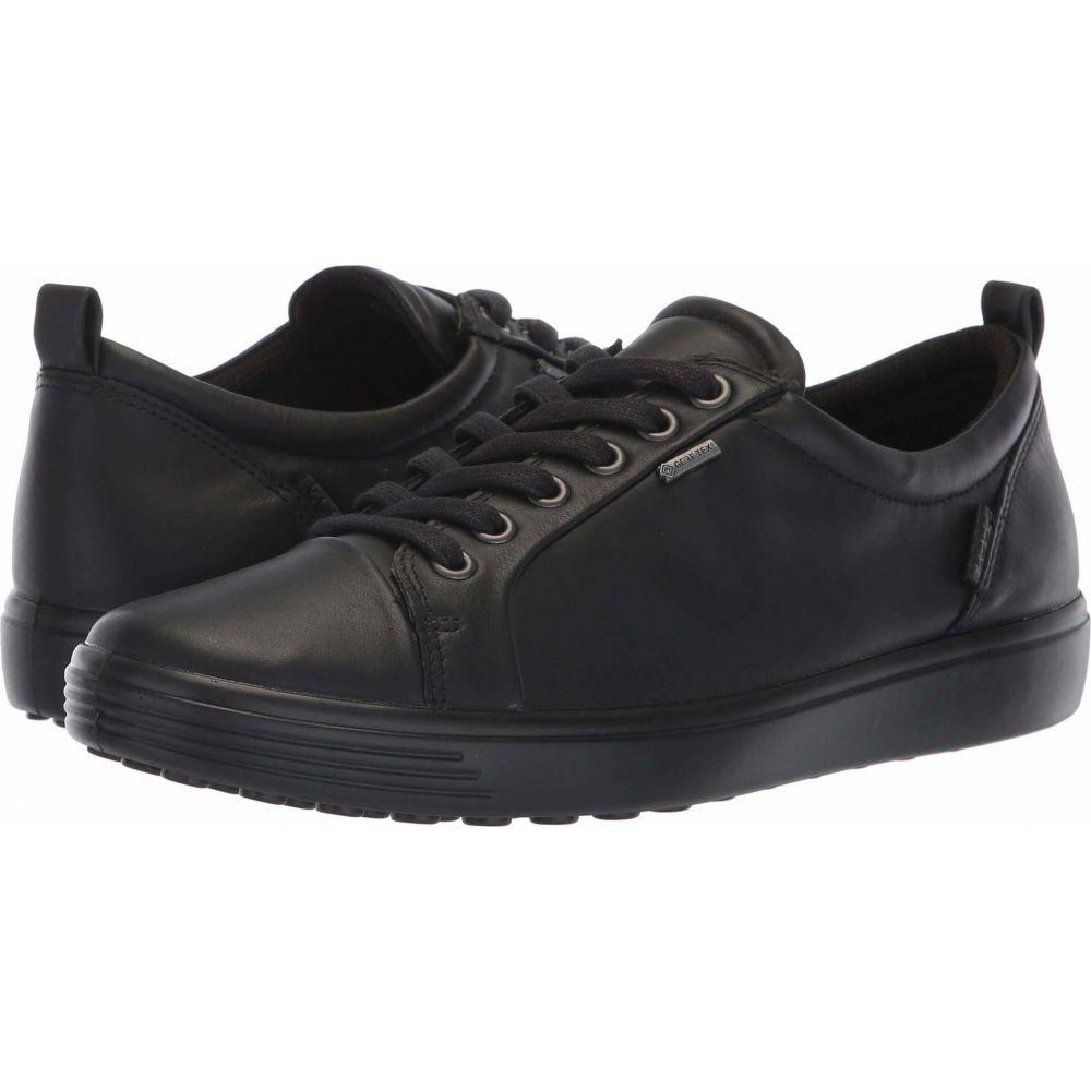 エコー ECCO レディース スニーカー シューズ・靴【Soft 7 GORE-TEX Tie】Black Cow Leather