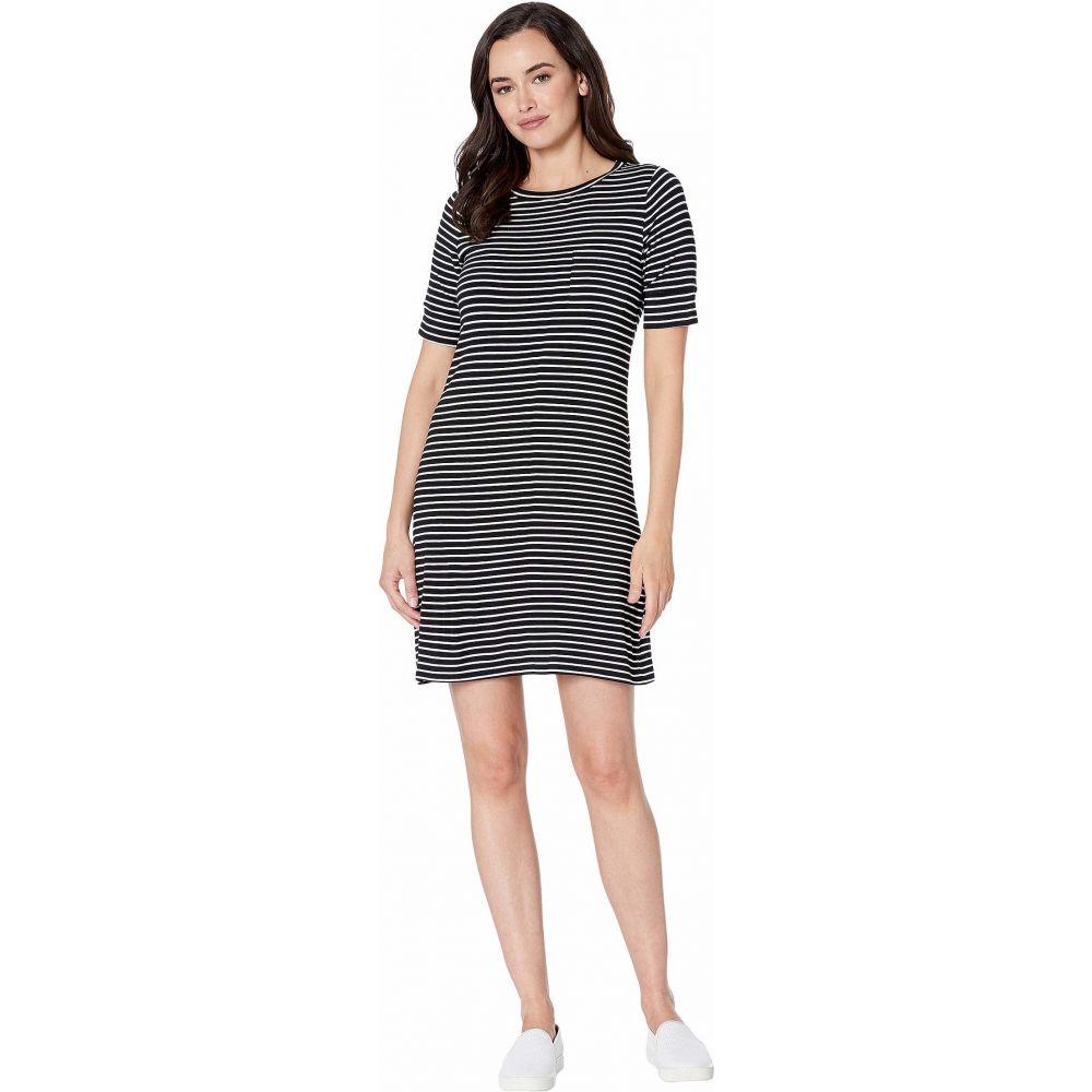 カルバンクライン Calvin Klein レディース ワンピース ワンピース・ドレス【Short Sleeve Stripe Dress w/ Pocket】Black/White
