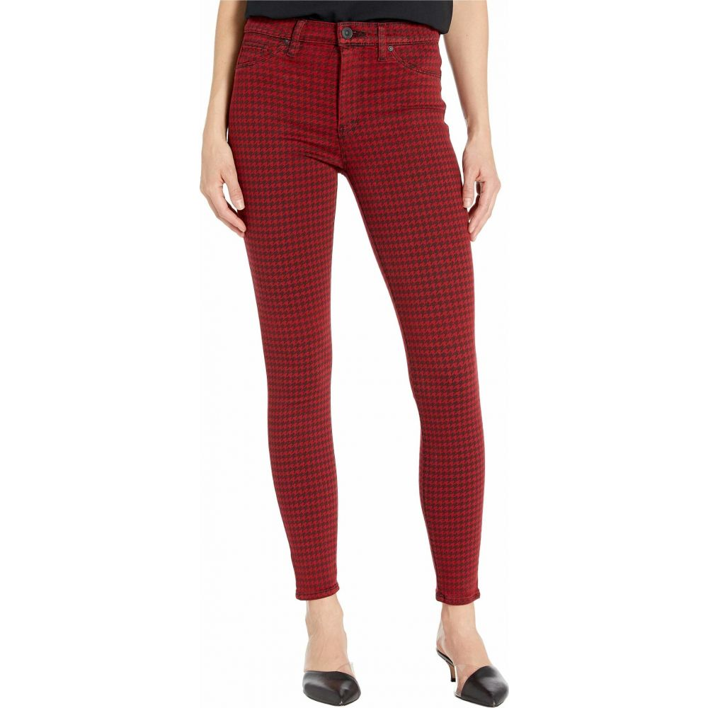 ハドソンジーンズ Hudson Jeans レディース ジーンズ・デニム ボトムス・パンツ【Barbara High-Waist Super Skinny Ankle in Oxblood Houndstooth】Oxblood Houndstooth
