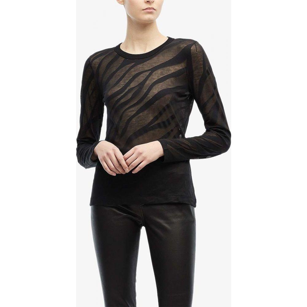 ラグ&ボーン rag & bone レディース 長袖Tシャツ トップス【Valencia Zebra Long Sleeve】Black