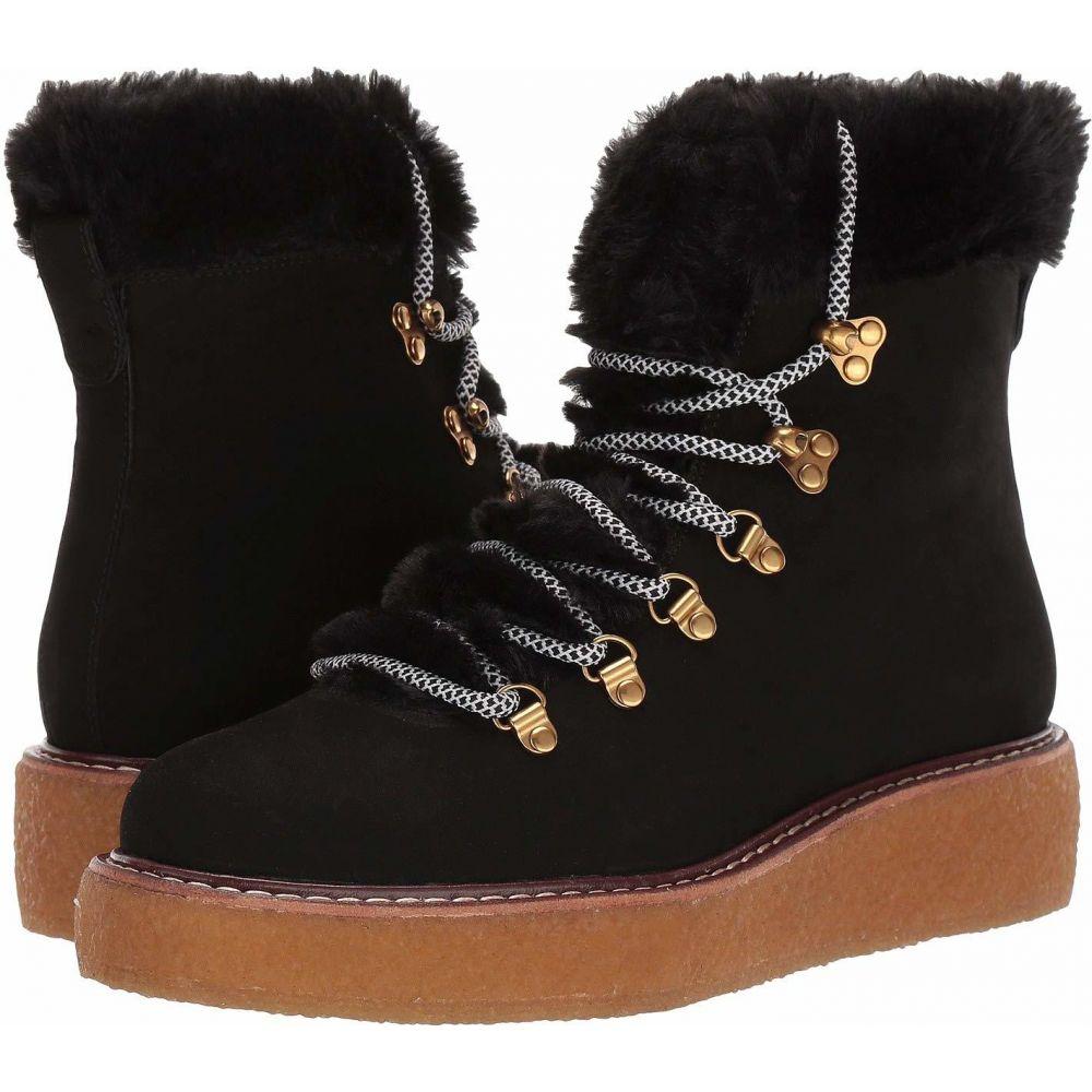 ジェイクルー J.Crew レディース ブーツ ウェッジソール シューズ・靴【Nubuck Crepe Sole Wedge Winter Boot】Black