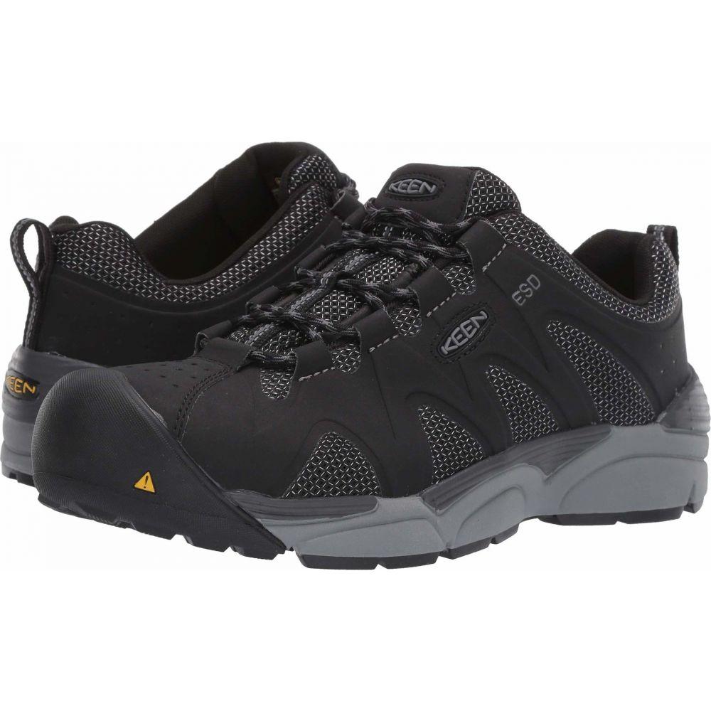 キーン Keen Utility メンズ シューズ・靴 【San Antonio Aluminum Toe ESD】Black/Steel Grey