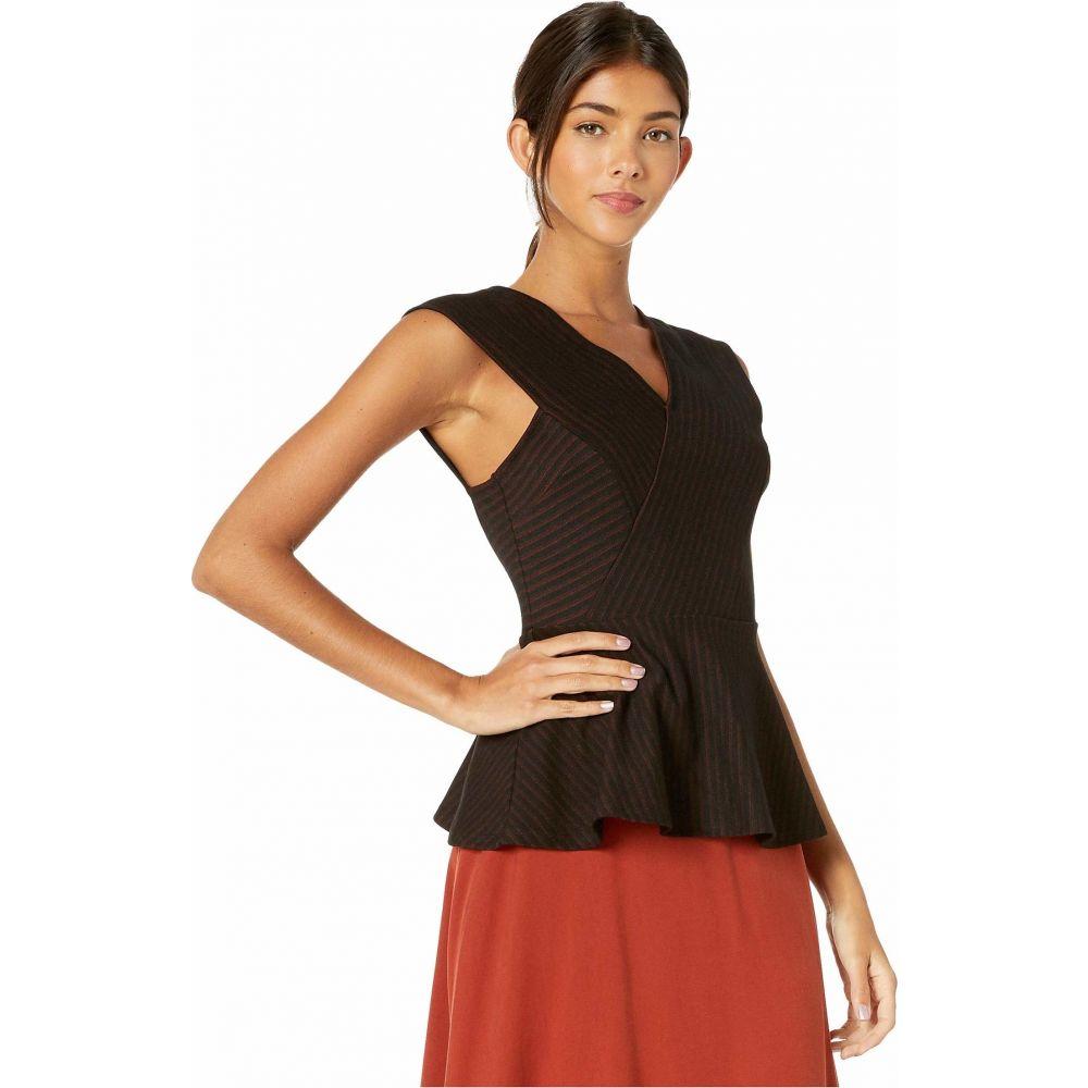 ビーシービージーマックスアズリア BCBGMAXAZRIA レディース ブラウス・シャツ トップス Asymmetrical Hem Knit Top Black ComboXiuPwkTlOZ