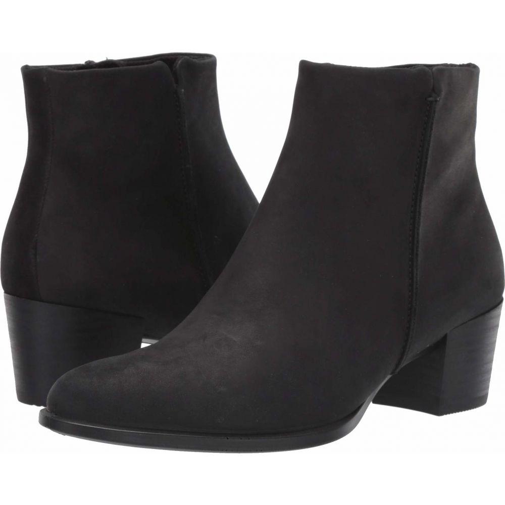 エコー ECCO レディース ブーツ シューズ・靴【Shape 35 Stitch Boot】Black Nubuck Leather