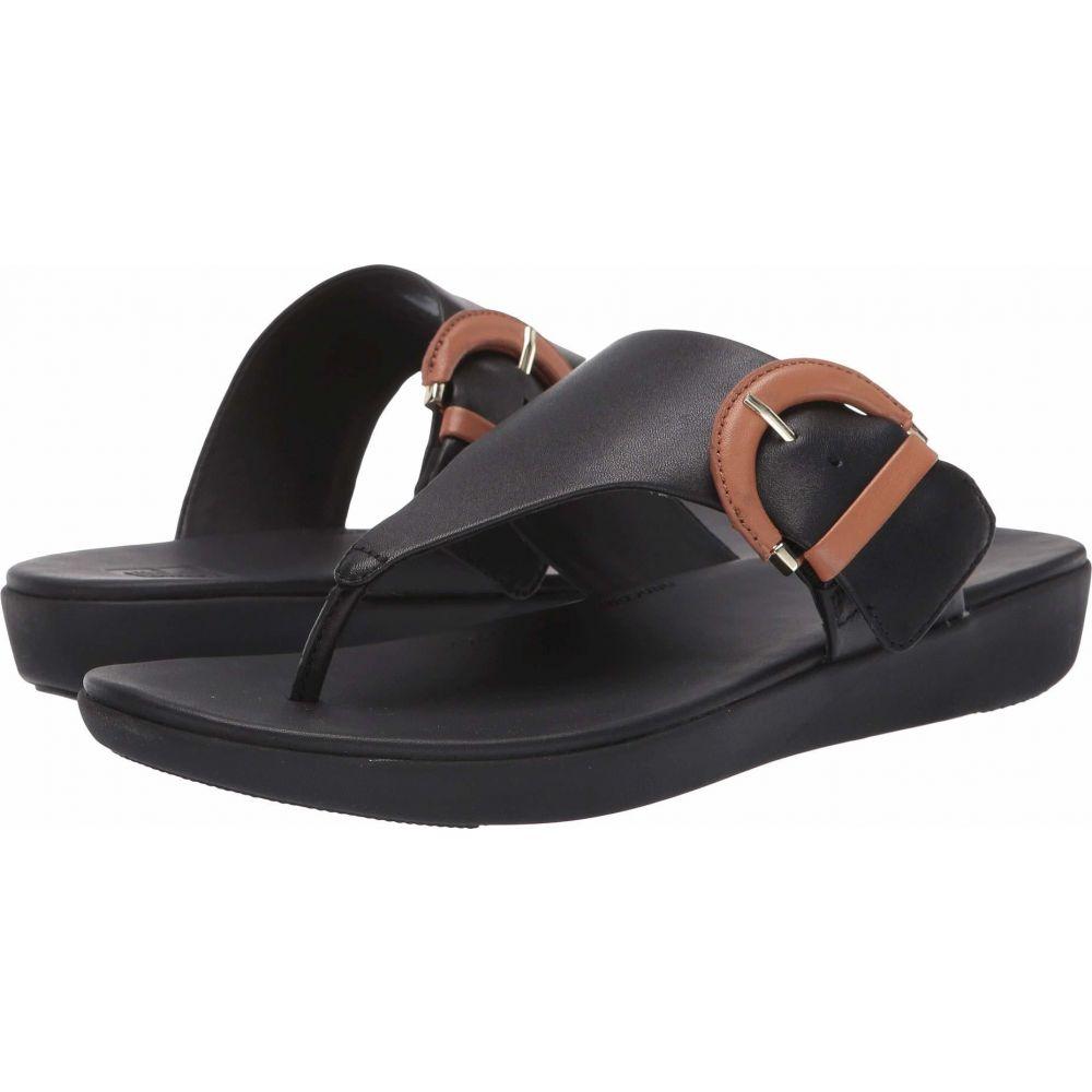 フィットフロップ FitFlop レディース ビーチサンダル シューズ・靴【Annelia Buckle Toe Thong】Black/Hazelnut